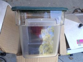 6 Clear 4 Qt. Storage Containers W Lids