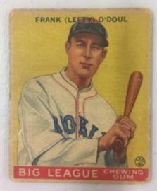1933 Goudey Frank Lefty ODoul Original Vintage ...