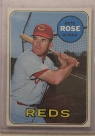 1969 Topps Pete Rose Cincinnati Reds Baseball Card ...