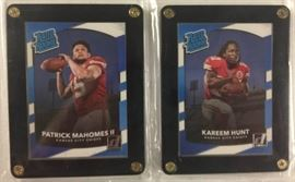 2017 Donruss Rated Rookies Patrick Mahomes Karee ...