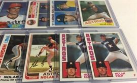 Collection of Early 1980s Topps Nolan Ryan Baseba ...