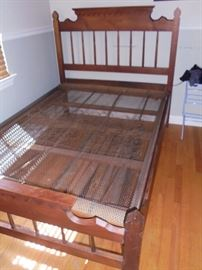 Antique full size bed w/metal springs