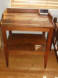 Vintage bedside pine table