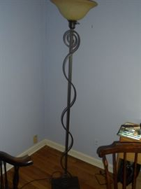 Mid century metal floor lamp