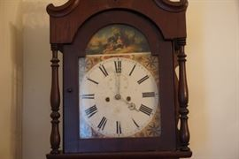 Mahogany Grandfather Clock Circa 1810
