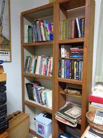 bookcase, many books