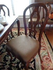 closeup of dining chair