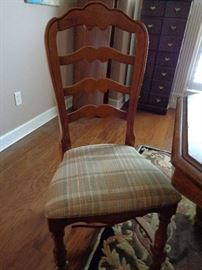 closeup of dining chairs