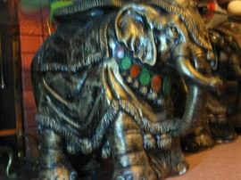 Elephant Glass-Topped Sculptural Tables 20x22x11