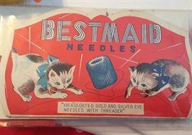 Needle book with kitties