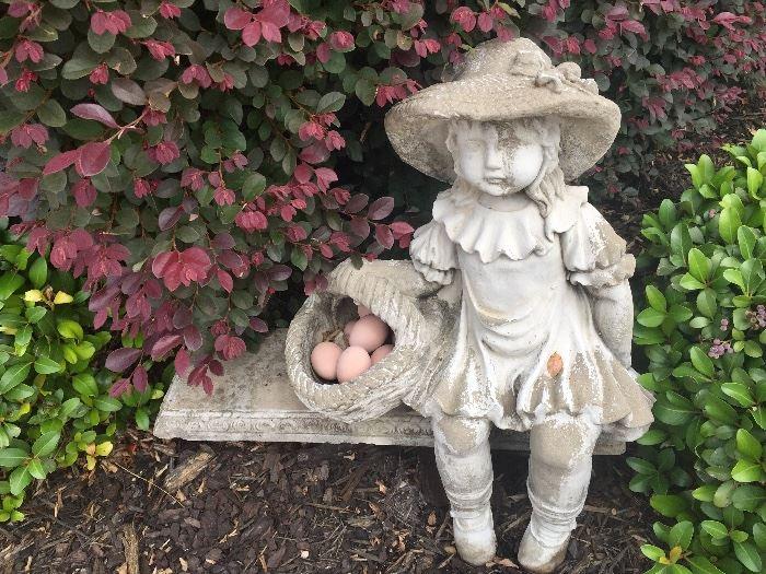Little girl with egg basket