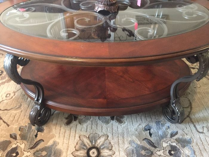Close up of coffee table