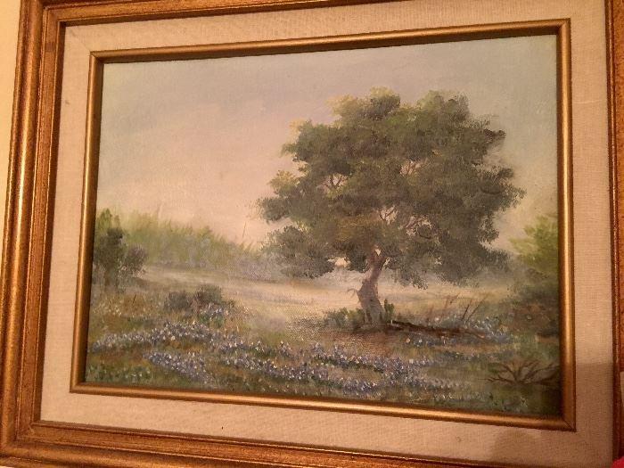 Original bluebonnet painting