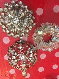 These are three of many brooches available.