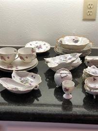 Beautiful violet china pieces
