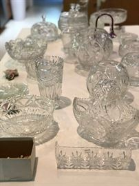 Vintage and new crystal pieces