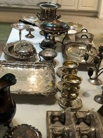 Vintage sterling and silver plate