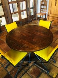 Wooden table with six chairs