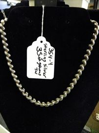 Sterling Silver Thick Chain Necklace