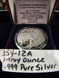 Legacy of Bowling Commemorative 1-Troy Ounce .999 Pure Silver Coin