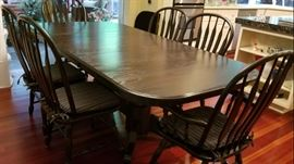 Black Oak Kitchen Dining Table