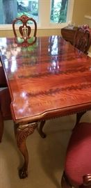 Dining Table Crotch Mahogany