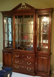 Thomasville Chippendale China Display Cabinet