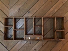 Large rustic shelf.