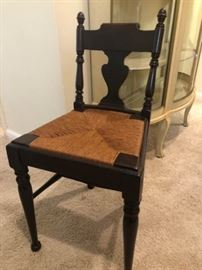 Antique rushed seat chair