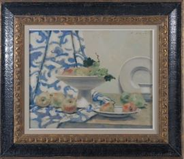 Andre Gisson Oil on Canvas Still Life Painting Estimate $700 - $1,400