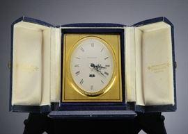 Fine Cased Jaeger-LeCoultre 8 Day Desk Clock