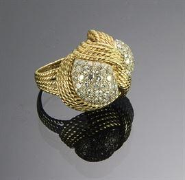 18K Gold Diamond Melee Ring 3.8 ctw