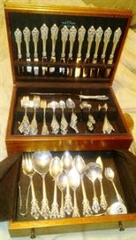 Wallace Grand Baroque Sterling Set for 12 Dinner Size A
