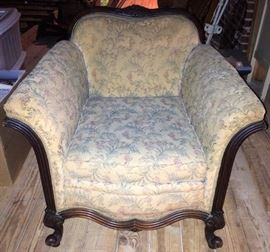 Antique Upholstered Parlor Chair