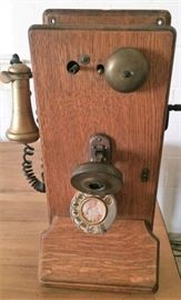 Detail on Antique Wall Telephone