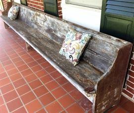 Long Antique Church Pew/Bench