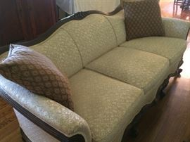 Closer Look at Antique Sofa