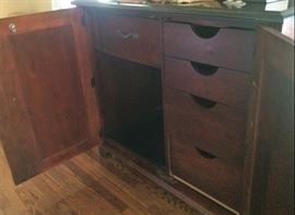 Interior of American Furniture of Martinsville Cabinet