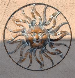 Metal sun yard art - nice condition