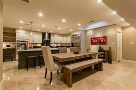 Kitchen dining view - all items shown are for sale except appliances.