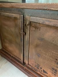 """Amazing vintage Wardian case.  There are two matching cases that measure 81.5"""" tall, 29.75"""" wide, 19"""" deep at deepest point."""