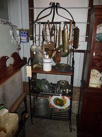 many shelves full   / kitchen items / bakers rack  MORE  !!!!!!!