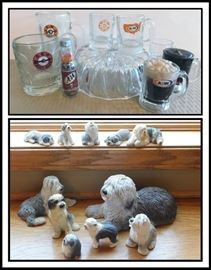A and W Root Beer Mugs & Candles Sheepdog Collection