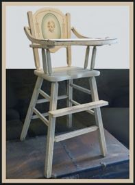Child's High Chair - Vintage.