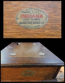 Antique Drawer made by the Indiana Cash Drawer Company in  Shelbyville, Indiana. Serial no. 5169.