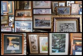 Mostly Wild Life Signed and Numbered Prints by Artists: Kouba, Killen, Redlin,  Derik Hansen, Fernandez, Maass and more.