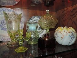 Vaseline Glassware and others