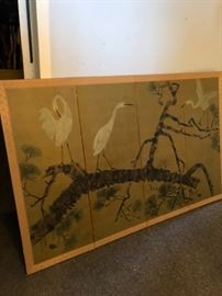 Chinese Heron Antique Screen  $250