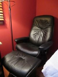 Danish Modern Lounge chair with foot stool.