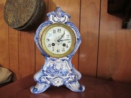 One of many clocks  this one Delft.